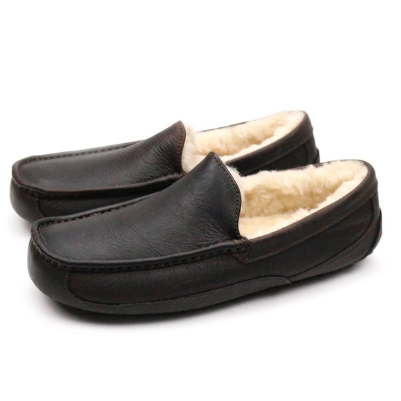 2d7ab5f9f6c UGG Ascot China Tea Leather Sheepskin Moccasins